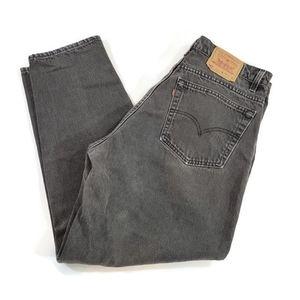 Vintage Levi's 560 Black Loose Fit Tapered Jeans